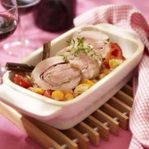 Rulada de porc cu legume
