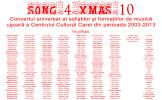 "CONCERT ""SONG 4XMAS 10"" LA CAREI"