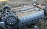 În afară localității Medieșu Aurit o șoferiță a pierdut controlul mașinii și a intrat în șanț