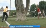 Se intampla in Romania... Copac in mijlocul terenului de fotbal :))