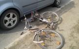 Biciclist accidentat la Santău
